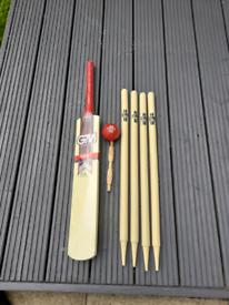 Cricket bat set. Junior size.