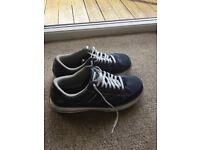 Men's casual shoes - Skechers - Canvas - Blue - Size 10 wide fit