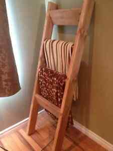 Rustic Handcrafted Blanket / Quilt Ladders