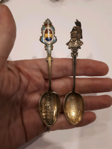 Vintage sterling Silver Saint John Collector's Spoons
