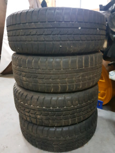 Winter tires with rims good condition. Came off a  2001 BMW 33ci