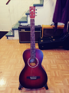 Guitare acoustique Art & Lutherie AMI Spruce Burgundy