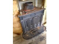 Large cast iron gas Fireplace