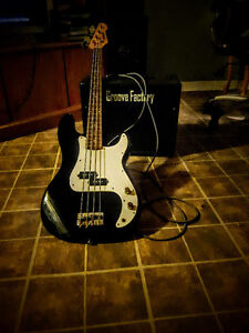 Bass. Amp and cable