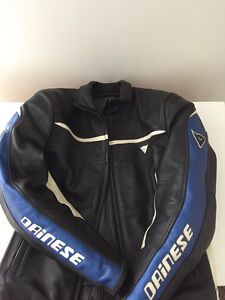 DAINESE LADY LEATHER JACKET - Black,White & Blue