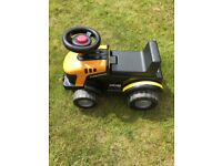 Ride-on JCB tractor
