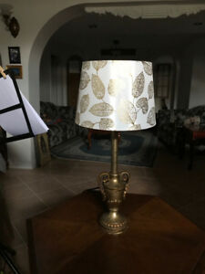 Sweet Antique Style Accent Table Lamp and Lampshade