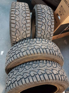 Used winter studded tires