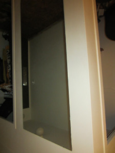 Wall Mirror with mounting clips