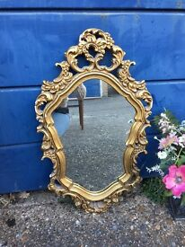 FRENCH ROCOCO MIRROR FREE DELIVERY GILTED VINTAGE MIRROR
