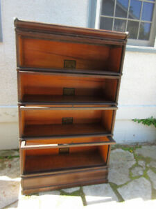 Original Antique (c1900) Stacking Bookcase 4 Sections H-57""