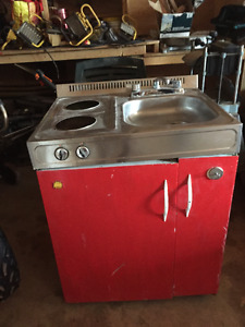 Old fridge stove sink combo