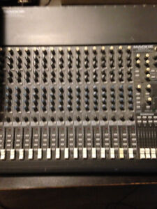 MACKIE 16 channel mixer and speakers