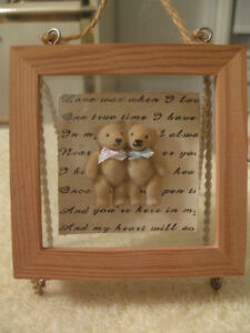 "TINY ADORABLE ""TEDDY BEAR FRIENDS"" WALL HANGING"