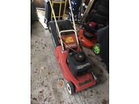 Mountfield empress petrol propelled mower with roller
