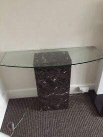 Lovely Glass and Marble Console Table