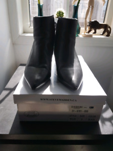 Steve Madden Leather Ankle Boots Size 9 UK 40