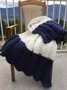 beautiful hand knitted blanket