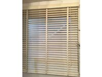 Ivory wooden blinds with tapes REDUCED