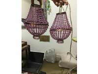 A pair of Ceiling hanging shade , great condition