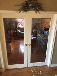 Glass french doors