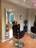 Chair rental in downtown Vancouver Salon