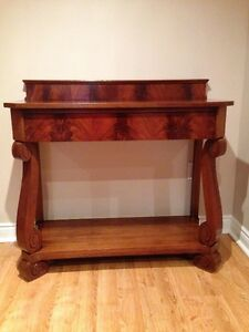 Vintage Antique Hall Table Console with Drawer