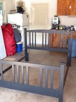 Bed frame and rails