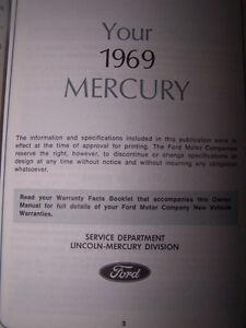 "1969 Mercury - ""registered owners manual"" Cambridge Kitchener Area image 2"