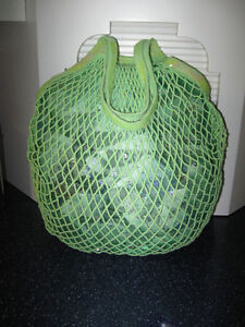 ...A CLASSY GREEN TOTE/BEACH BAG... With GLITTERY NET LINING...