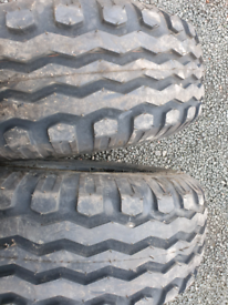 Pair of new bkt 10.0/75 r15.3 tyres suit tractor or trailer