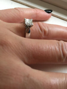 one carat princess cut solitaire