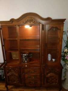 Moving must sell....Solid wood china cabinet  $85.00