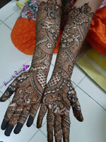 Professional Bridal henna services starting at $99
