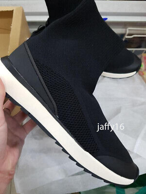 ZARA NEW WOMAN SOCK-STYLE HIGH-TOP SNEAKERS SHOES BLACK 35-42 6416/001