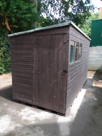 Garden Shed / Office, Tongue & Groove, Pent Roof (12' x 6')