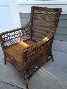 Vintage Wicker Armchair