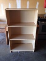 Solid shelving bookcase
