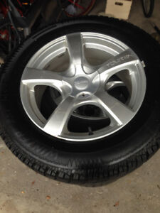 GREAT CONDITION!! Winter tires and rims 235/65R18
