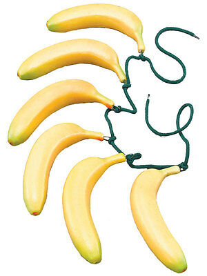 Monkey Banana Kostüm (Fake Banana Belt Fruit Fancy Dress Gorilla Monkey Yellow Accessory  Hawaiin New)