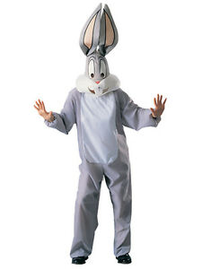 Adult STD Licensed Looney Tunes Bugs Bunny Fancy Dress Costume Mens Gents