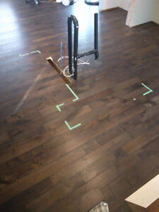 Solid Hickory Distressed Hardwood Floors 195 sq. ft. discounted
