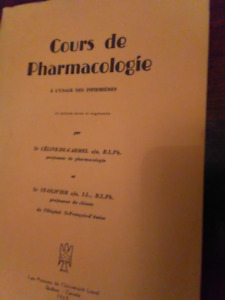 Vintage Pharmacology book (French)