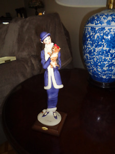 TWO GUISEPPE ARMANI FIGURINES - LADY WITH DOG + LADY WITH BAG