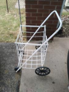 Large 4 wheel shopping cart.