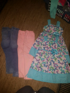 Size 5 girls pants and dresses lot