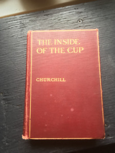 "1913 Winston Churchill Book ""THE INSIDE OF THE CUP"""