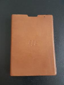 Blackberry Passport Premium Tan Leather Portfolio Case