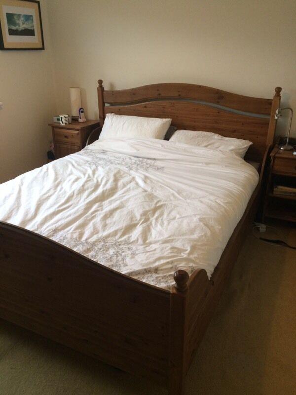 pine european king size bed frame ikea leksvik mattress also available - European Bed Frame