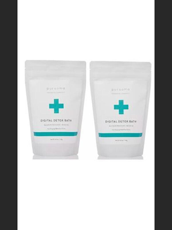Pursoma Organic/Raw/Vegan Digital Detox Bath Treatment Stress Reliever (4-Pack)